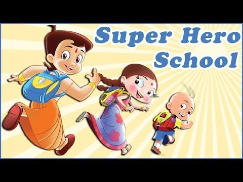 super heros chhota bheem mighty raju luv kushh at school youtube