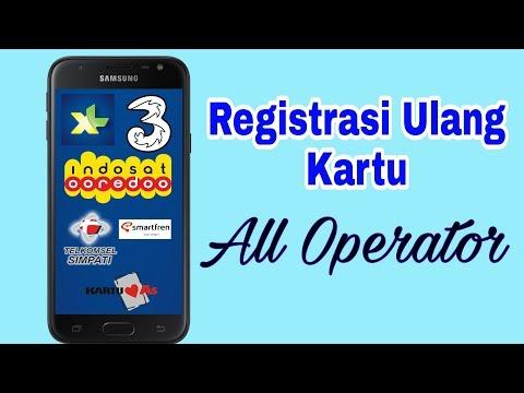 Cara Registrasi Ulang Kartu XL,Simpati,Indosat,Tri,Smartfren dan Lainnya