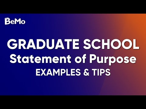 Graduate School Statement Of Purpose Example  Tips - YouTube