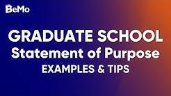 Graduate School Statement Of Purpose Example & Tips