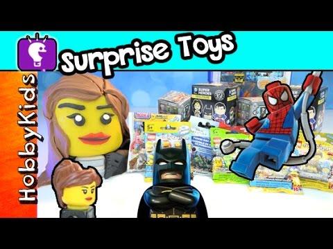 Trixie Surprise Toys 3 Play-Doh Batman Spider-man Funko Minecraft SpongeBob by HobbyKidsTV