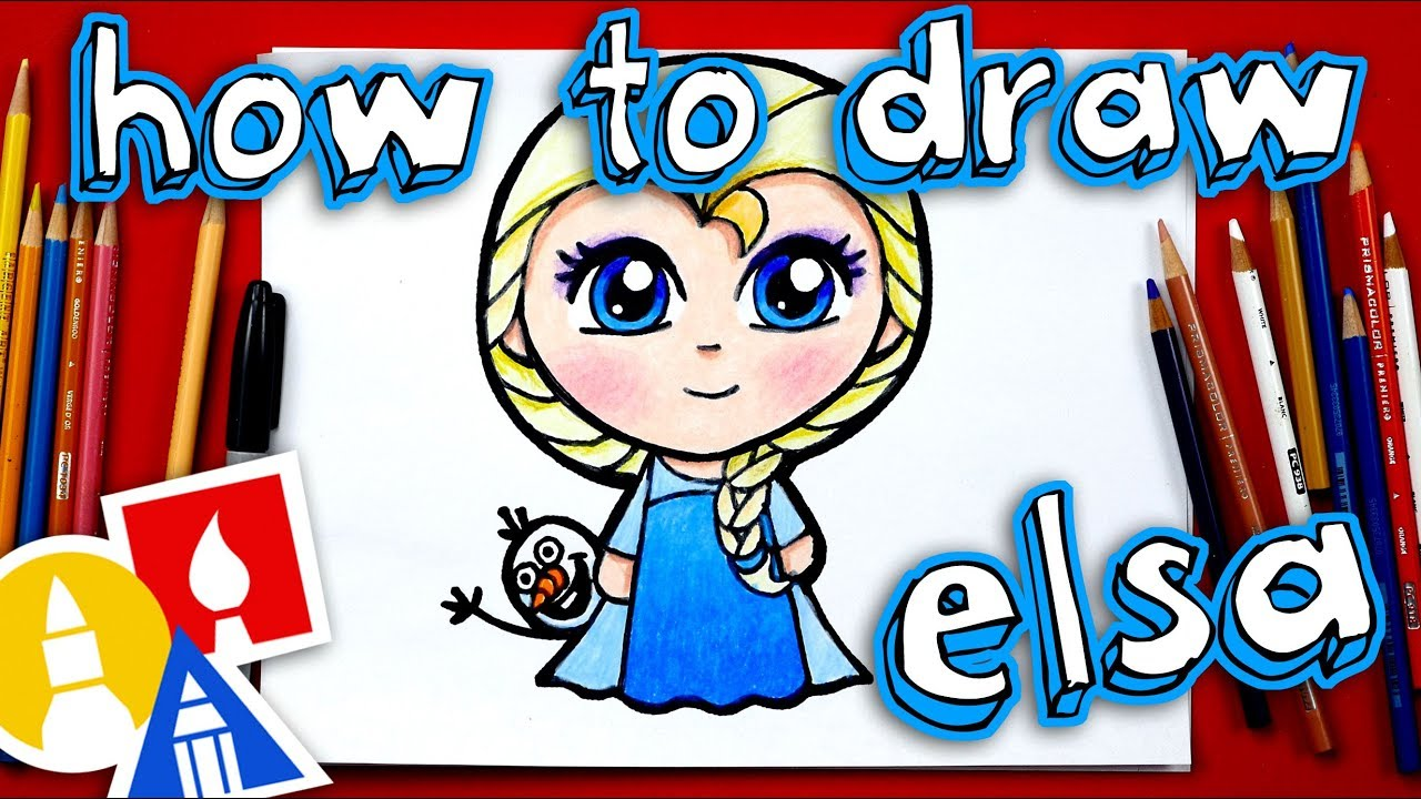 How To Draw Elsa **NEW** - YouTube