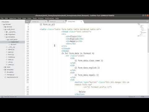 Create Multi Formset in Django