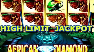 **JACKPOT HANDPAY** REAL HIGH LIMIT $20 BETS ON AFRICAN DIAMOND SLOT