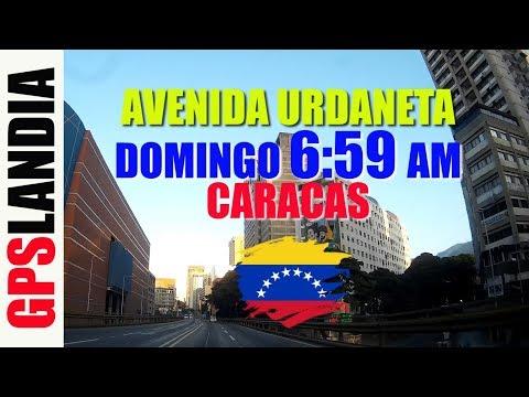 CARACAS CENTRO Avenida URDANETA Sin TRAFICO Domingo VENEZUELA