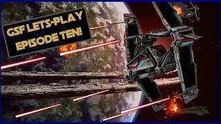 GSF Let's Play #10! SWTOR Galactic Starfighter Space Pvp. 3 cap madness!!