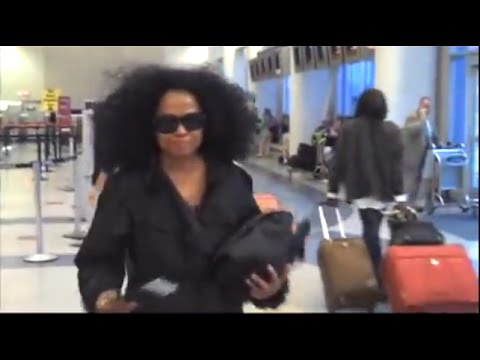 4917188047 Diana Ross ANGRY at LAX Airport! - YouTube