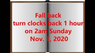 Fall Back Clock 11/1/2020