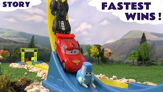 Disney Cars Angry Birds Batman Crash Accident Play Doh Fastest Wins Spider-Man Hot Wheels Speed
