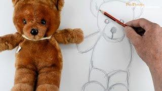 Start Drawing: PART 3 - Draw a Teddy Bear using shape