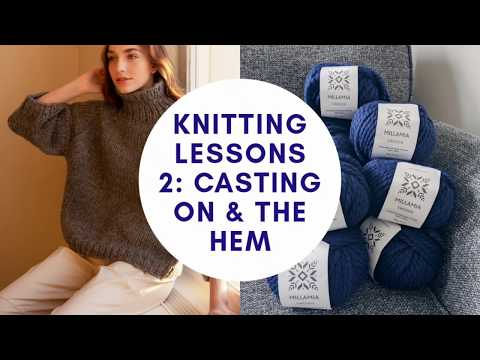 Knitting lessons 2: how to knit a jumper hem and knitting in the round
