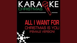 All I Want for Christmas Is You Karaoke Lead