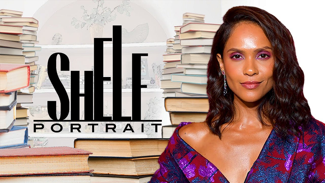 Lesley-Ann Brandt Shows Off Her Eclectic Book Collection | Shelf Portrait | Marie Claire