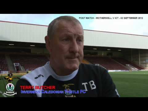 Inverness CT -Terry Butcher Post match interview v Motherwell, 02/09/2012