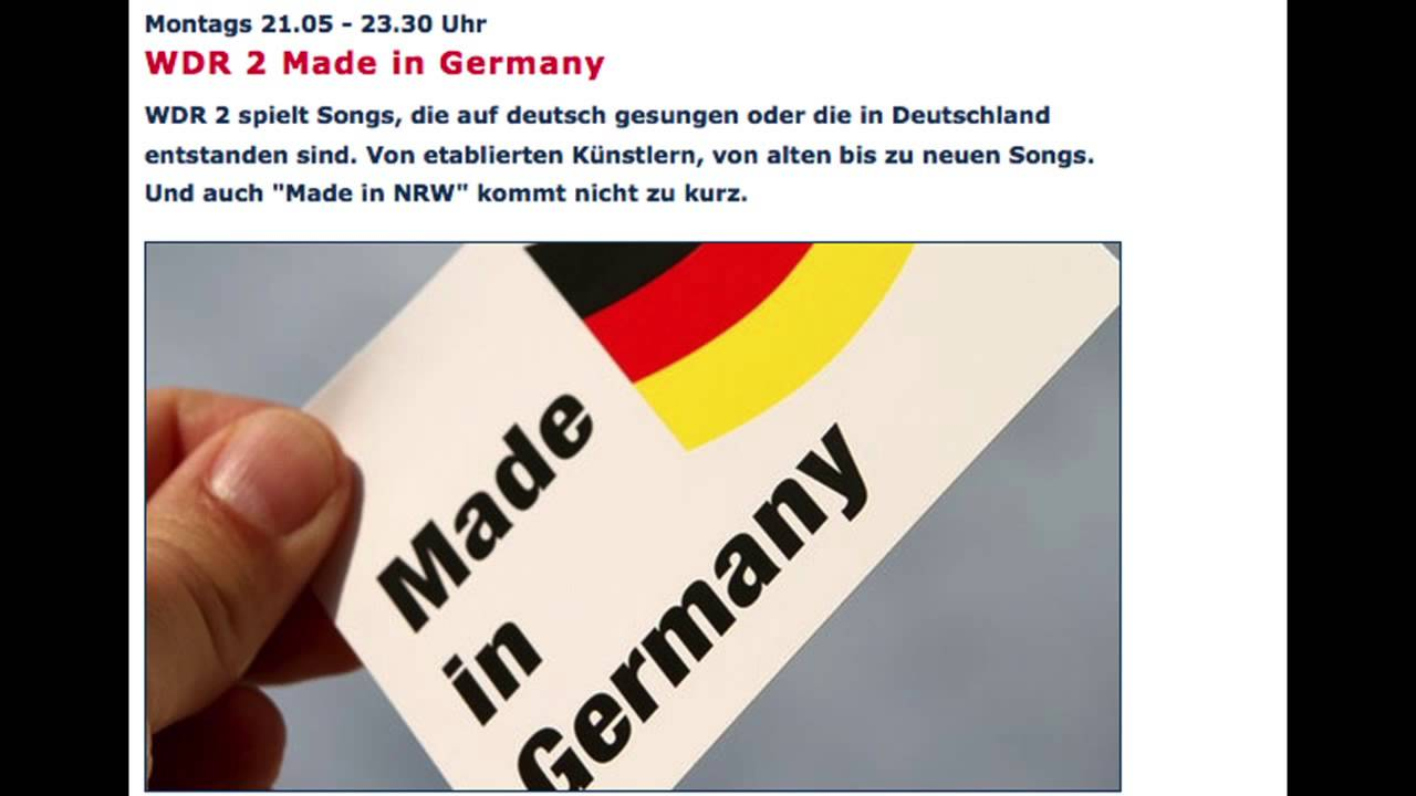 Wdr 2 Made In Germany