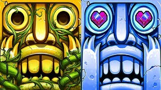 Temple Run 2 Sky Summit VS Frozen Shadows Android iPad iOS Gameplay