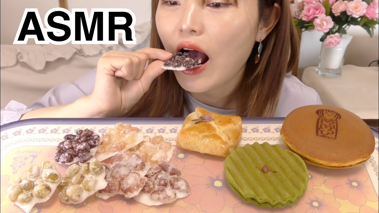 【ASMR】岩納豆、和菓子色々食べるだけ。【BGM、喋り抜き版】