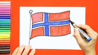 How to draw and color the Flag of Norway