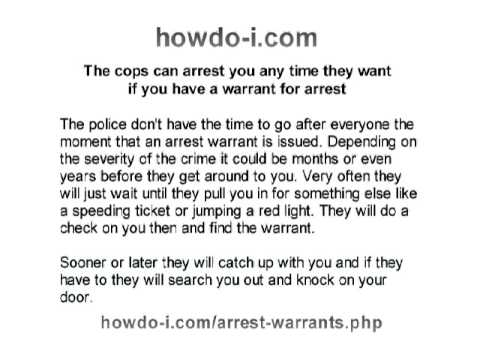 Active Arrest Warrants   Find Out About Your Warrants Before The Cops Come  To Get You