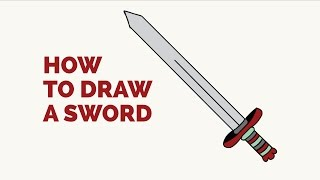 How to Draw a Sword - Easy Step-by-Step Drawing Tutorial