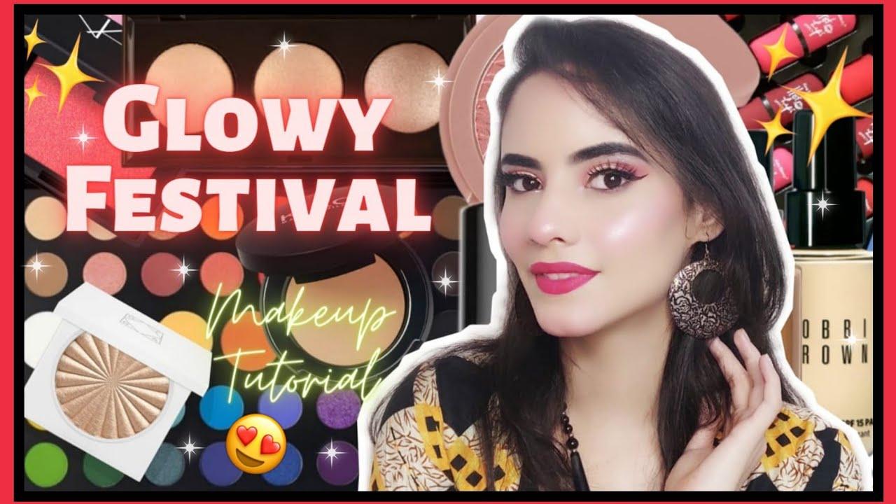 Glowy Festival Makeup look