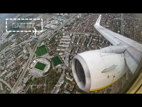Steep Take Off Sofia Airport (SOF/LBSF) | Ryanair Boeing 737-800 | Runway 27