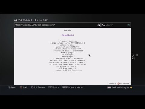 PS4 6.00 WebKit Exploit Online