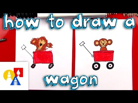 How To Draw A Wagon With A Monkey (young Artists)