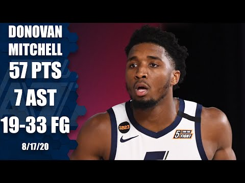 Donovan Mitchell scores 57 points in Game 1 vs. Nuggets | 2020 NBA Playoff Highlights