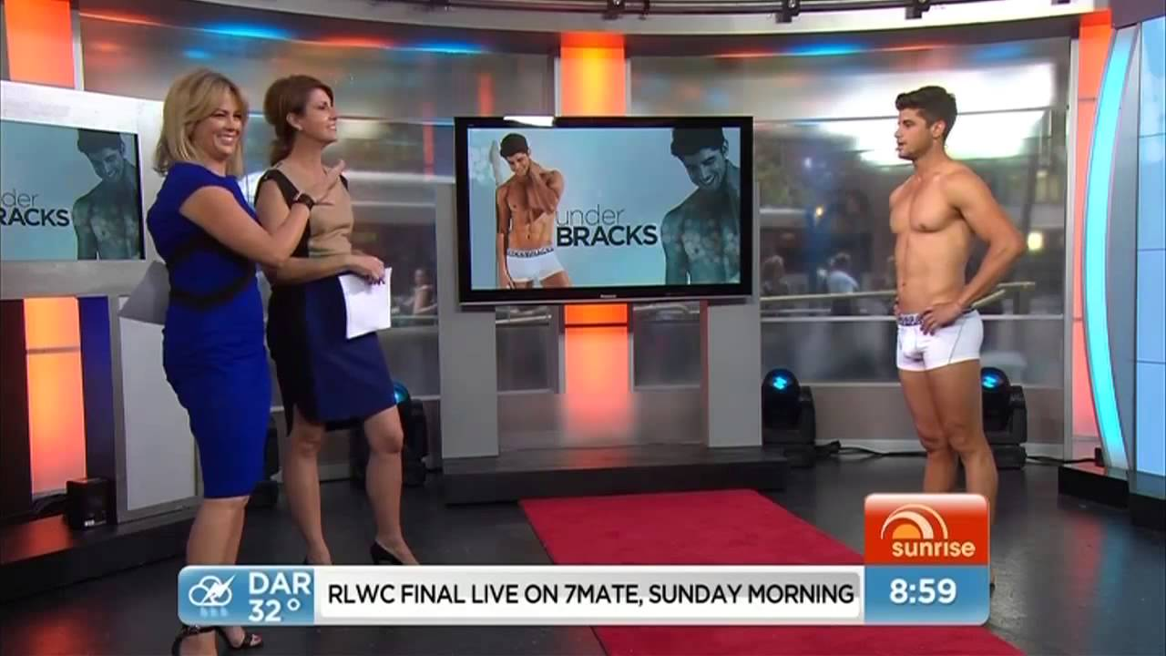 Sunrise morning show bad boy to underwear model nick bracks sunrise morning show bad boy to underwear model nick bracks underbracks youtube ccuart Image collections