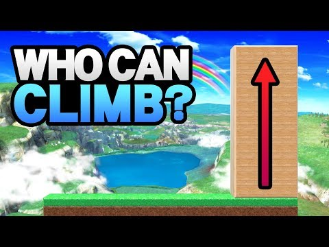 Who Can Climb THE WALL In Smash Ultimate? (Ver. 3.0.1)