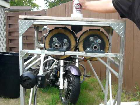 Can Crusher - Homemade - Using Two Wheels