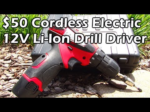 $50 Cordless 12V Li-Ion Drill Driver Tool - PowerAction CD6262