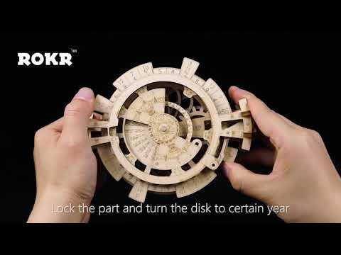 Creative DIY 3D Calendar Wooden Puzzle Game Assembly Toy Gift for Children Teens