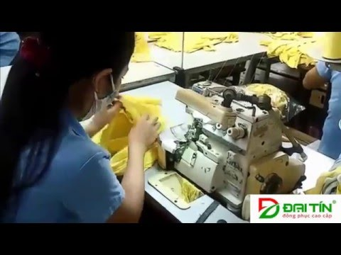 Xưởng may áo thun tại cty MAY MẶC ĐẠI TÍN