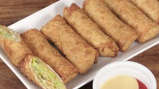 Homemade Chicken And Vegetables Egg Rolls