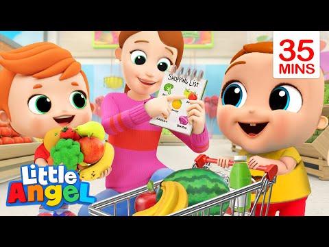 Fruits and Veggies Make Us Healthy   More Little Angel Kids Songs & Nursery Rhymes