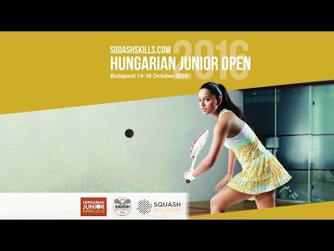 Griff Squash & Fitness Club - LIVE - Hungarian Junior Open 2016