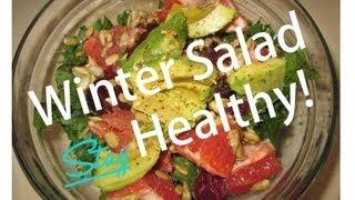 Kale Avocado Grapefruit Salad (vegan)