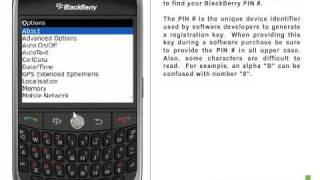 BlackBerry Curve (8900) How To Find Your PIN # Mp3