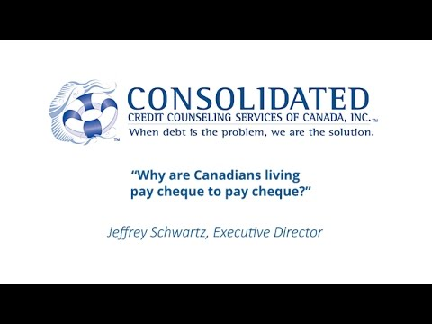 Why are Canadians living pay cheque to pay cheque