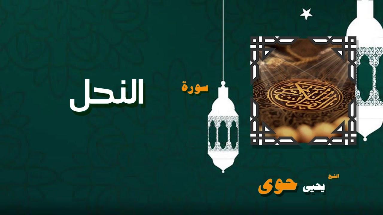 القران الكريم بصوت الشيخ يحيى حوى   سورة النحل