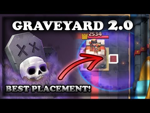 How to Use Graveyard 2.0 with Optimal Placements | Clash Royale