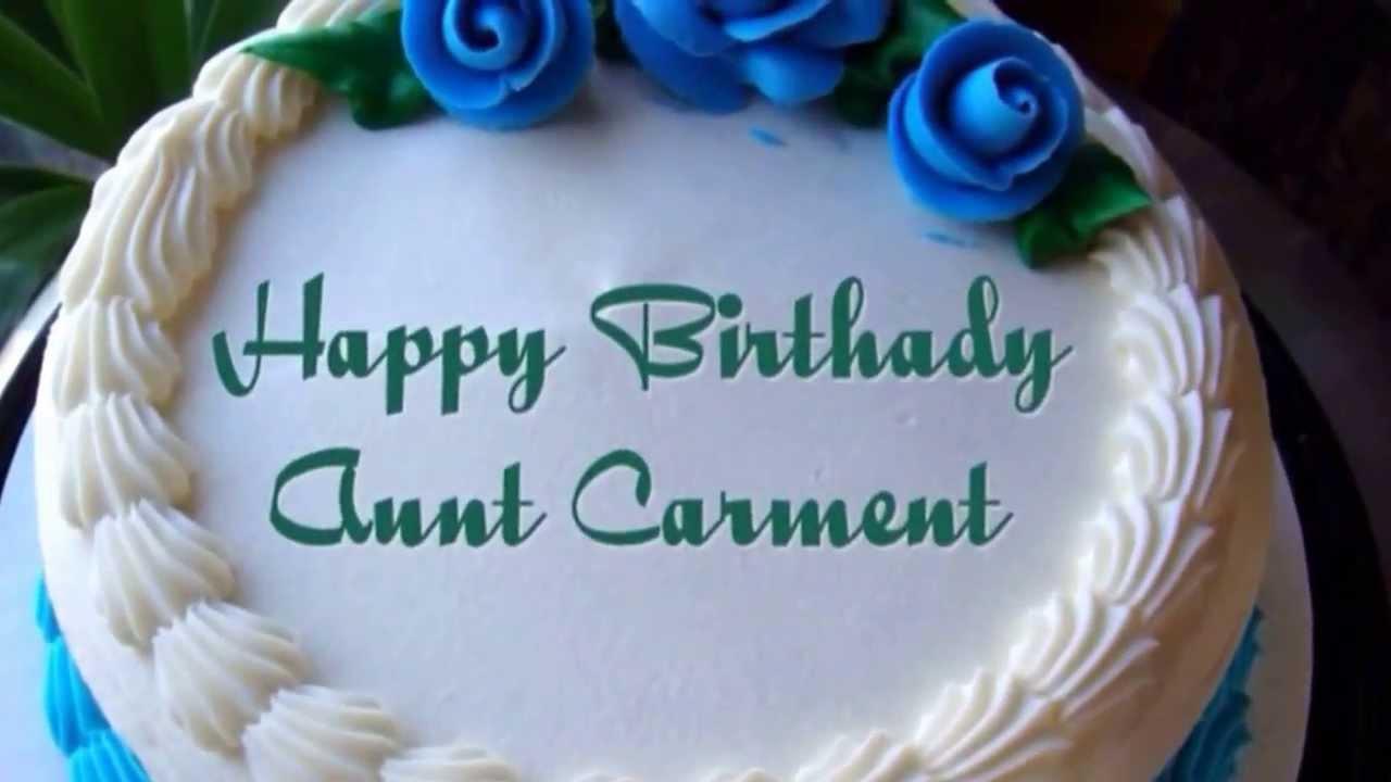 Oct 7 2013 happy birthday aunt carmen youtube - Happy birthday carmen images ...