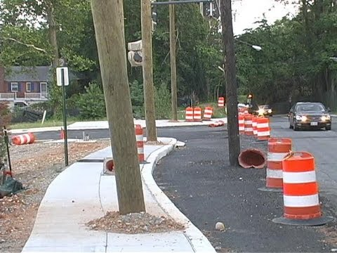 PEPCO Utility Poles in Sidewalks