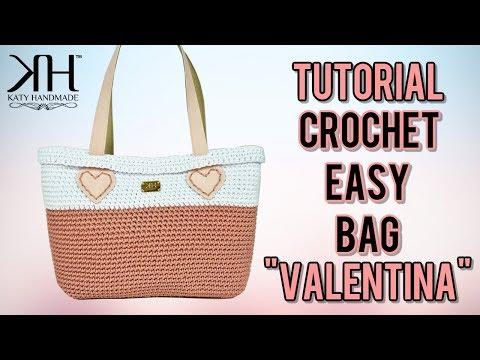 """TUTORIAL BORSA UNCINETTO """"Valentina Summer"""" - Crochet Bag ● Katy Handmade"""