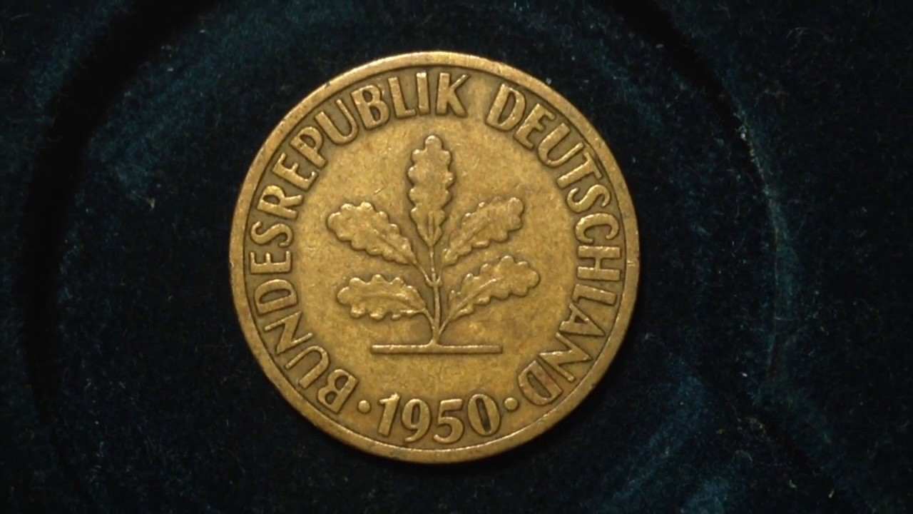 10 Germany Pfennig Coin Dated 1950 Youtube