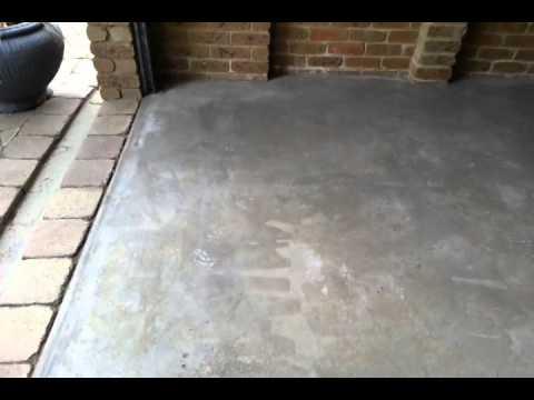 after acid etch concrete floor youtube