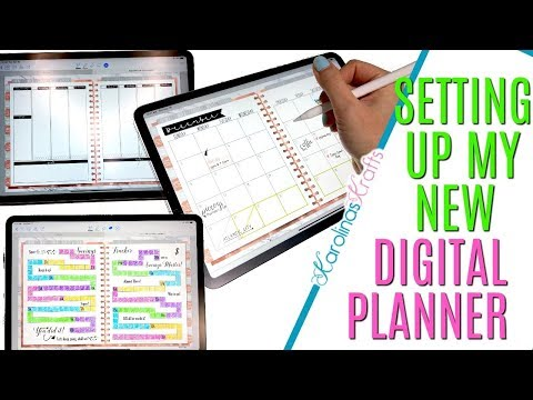 Setting up my new digital planner on my Ipad Pro using Goodnotes, Inside my Digital Planner iPad Pro