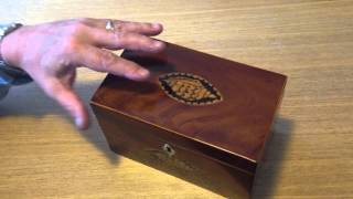 Circa1805 Mahogany Antique Tea Caddy